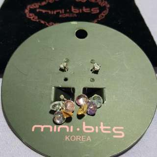 Mini Bits Crystal Earrings (Korea)