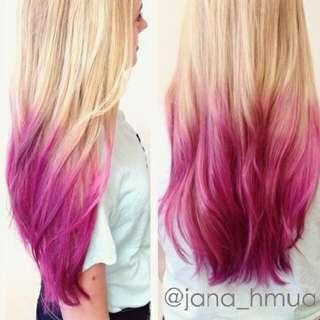 Hair Dye Coloring Powder (Pink)