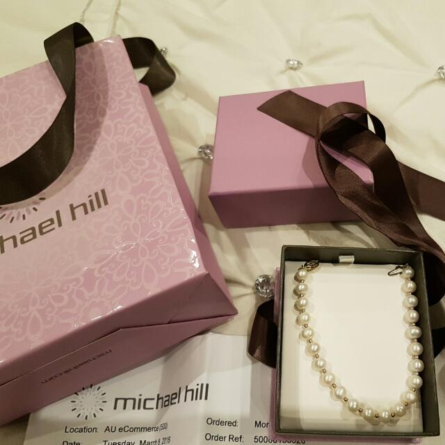 10 Carat Gold With Pearl Bracelet