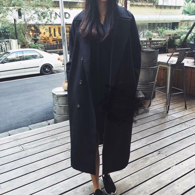 鋪棉毛尼大衣 有份量超級保暖~專櫃這種大衣都要4-6千💓韓國帶回來的喔🤗