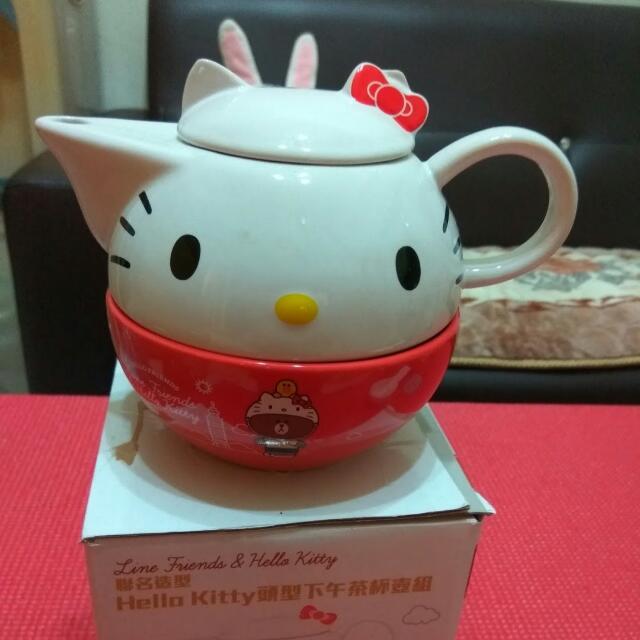 凱蒂貓茶壺杯組