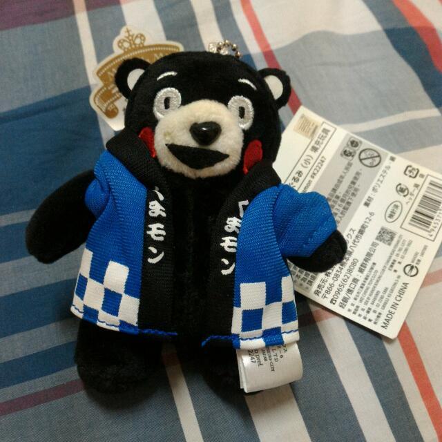 (全新)正版藍色和服熊本熊玩偶吊飾