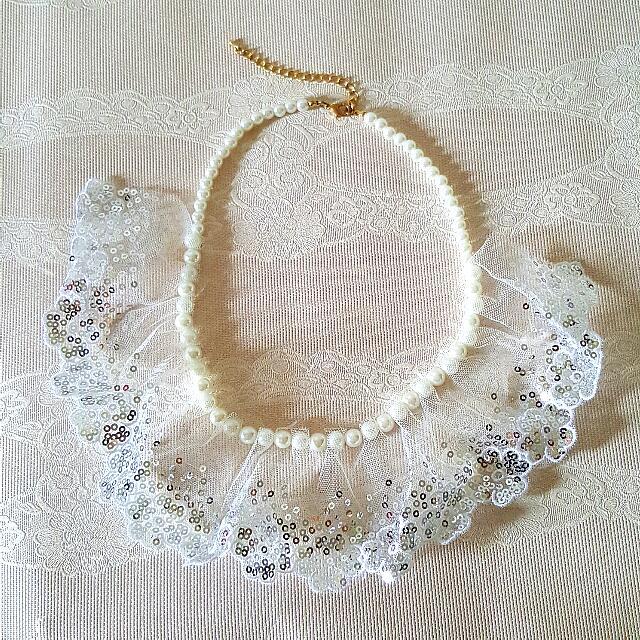 😍韓國帶回 蕾絲珍珠項鍊