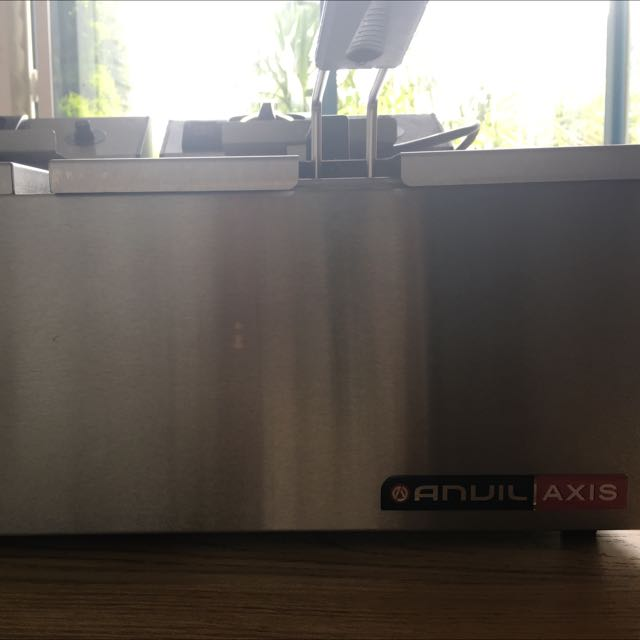 Anvil Axis Double Electric Fryer With Lid