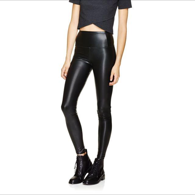 Aritzia Wilfred Free Daria Leather Leggings XS