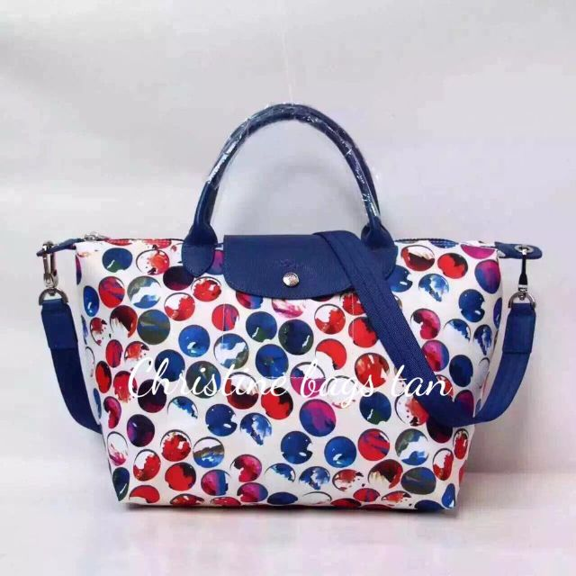 """Authentic Lonchamp """"Marble"""" Tote Bag"""