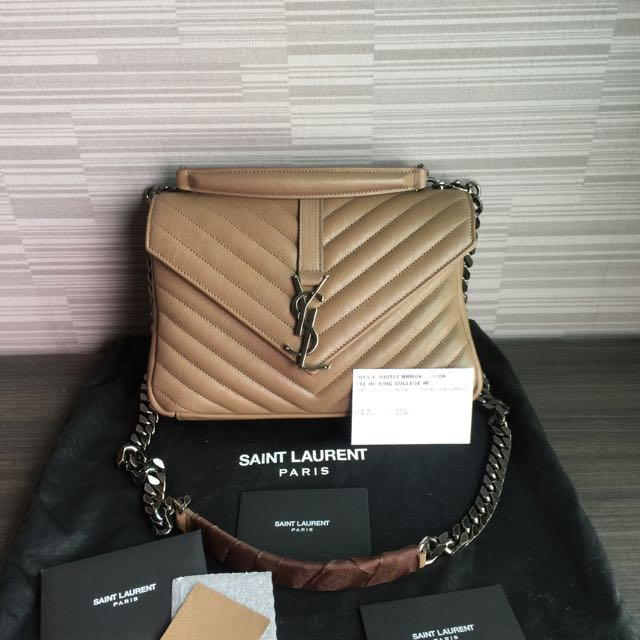 4648fa7d96d *Authentic* Preloved SAINT LAURENT YSL Small College Bag, Luxury, Bags &  Wallets on Carousell