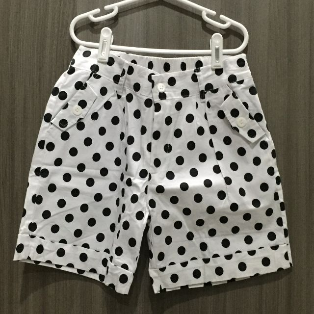 Black and White Polkadot Shorts