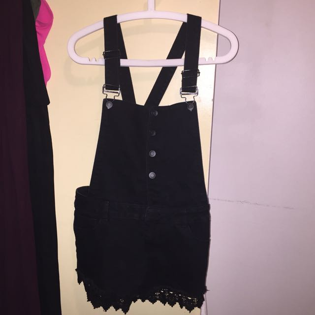 Black Overalls With Shorts