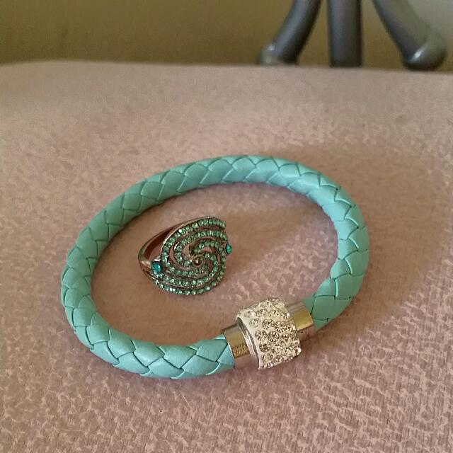 Blue Bracelet And Ring
