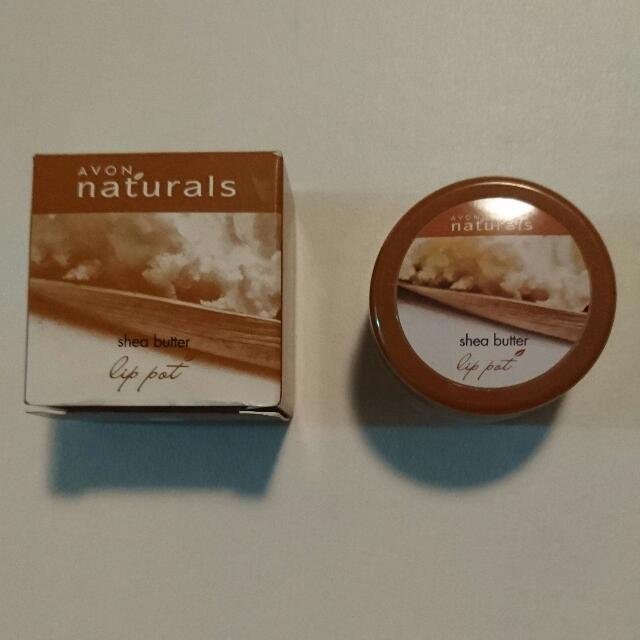 Brand New I'm Box Avon Naturals Shea Butter Lip Pot Lip Balm