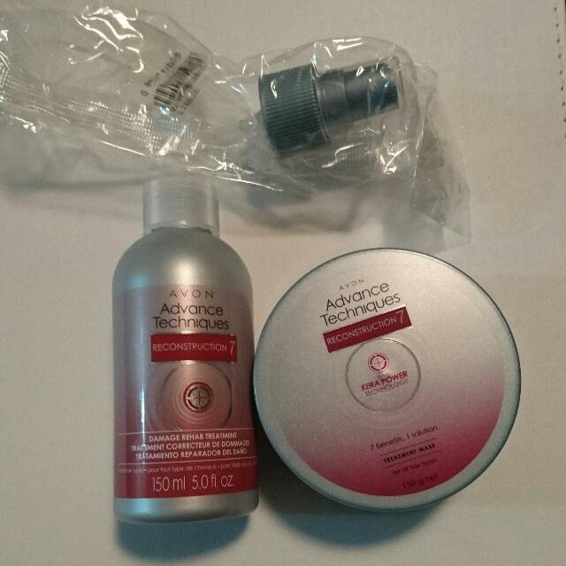 Brand New Never Used Avon Advanced Techniques Reconstruction 7 Damaged Hair Treatment Spray And Treatment Mask. $10 For Both