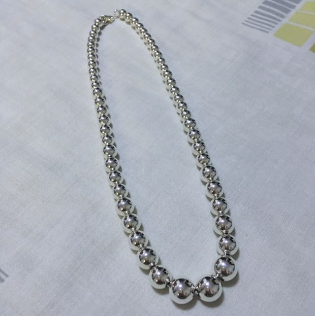 d7a357c4e9de Brand New Tiffany and Co graduated beads necklace in Sterling Silver ...