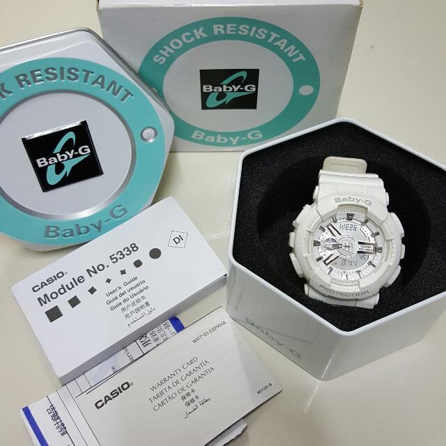 降❕卡西歐 Casio Baby-G 多功能防水電子錶(白)
