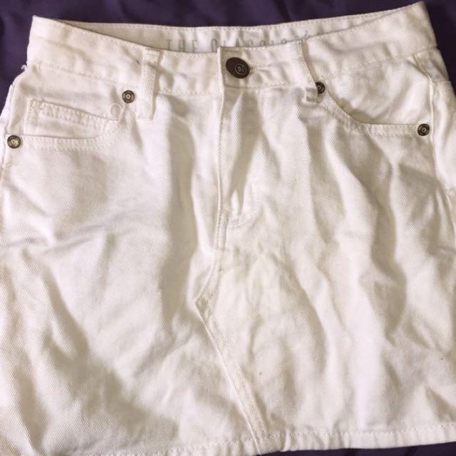 Cotton On White Skirt