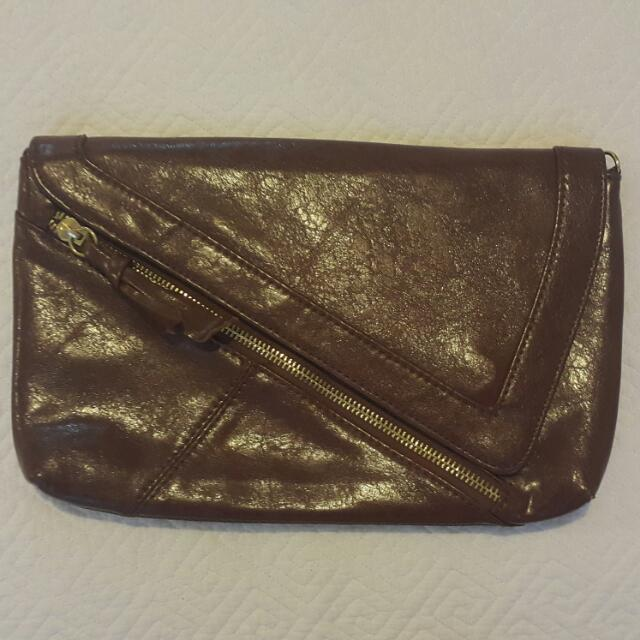 Faux Leather Clutch