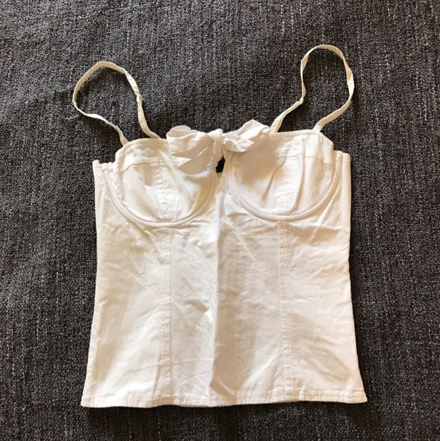 Forever New Bustier Size 6 White