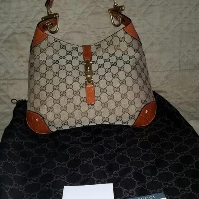 Genuine Gucci Jacki O Piston Bag