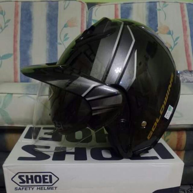 07f8888c Helmet Shoei Jforce II Goldwing, Car Accessories on Carousell