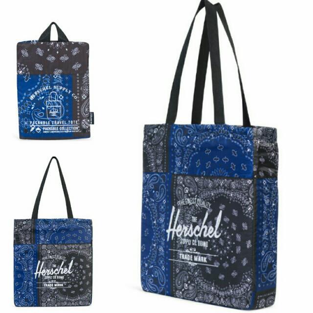 c47b597c3ae9 Herschel Packable Tote Bag - Navy Bandana Herschel Packable Tote Bag ...