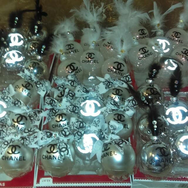 Chanel Christmas Ornaments.High End Design Ornaments Luxury On Carousell