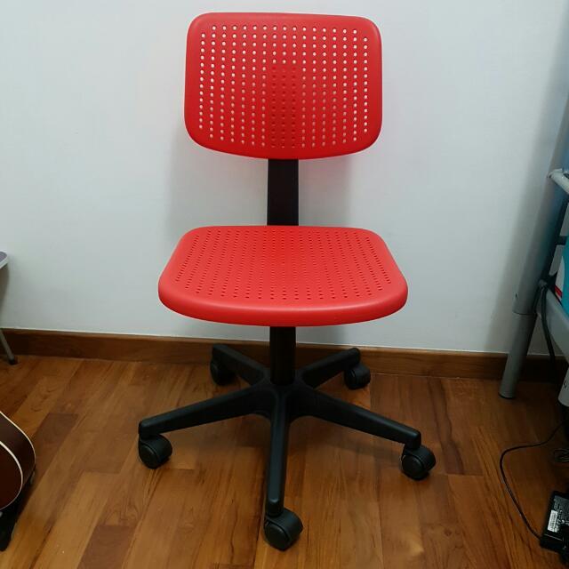 IKEA ALRIK Swivel Chair (RED)