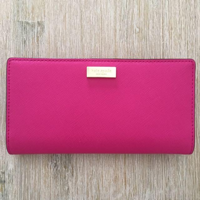 Kate Spade Stacy Hot Pink/ Magenta Wallet
