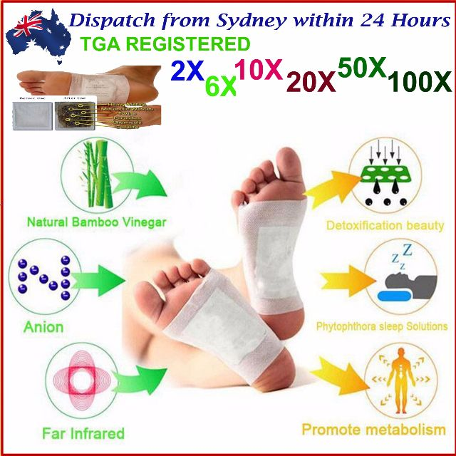 Kinoki Foot Detox Patch Natural plant Pads Toxin Removal Remover Detoxify Fit Health Care Detoxification