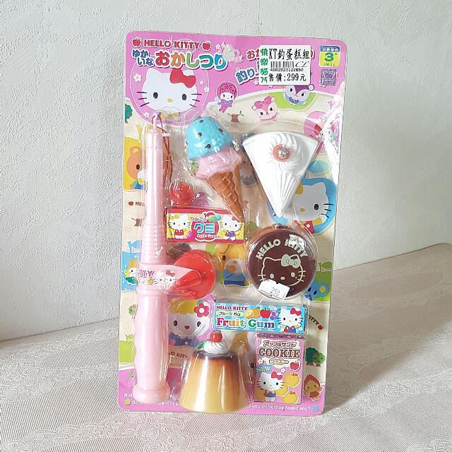KITTY玩具蛋糕釣魚遊戲模型組
