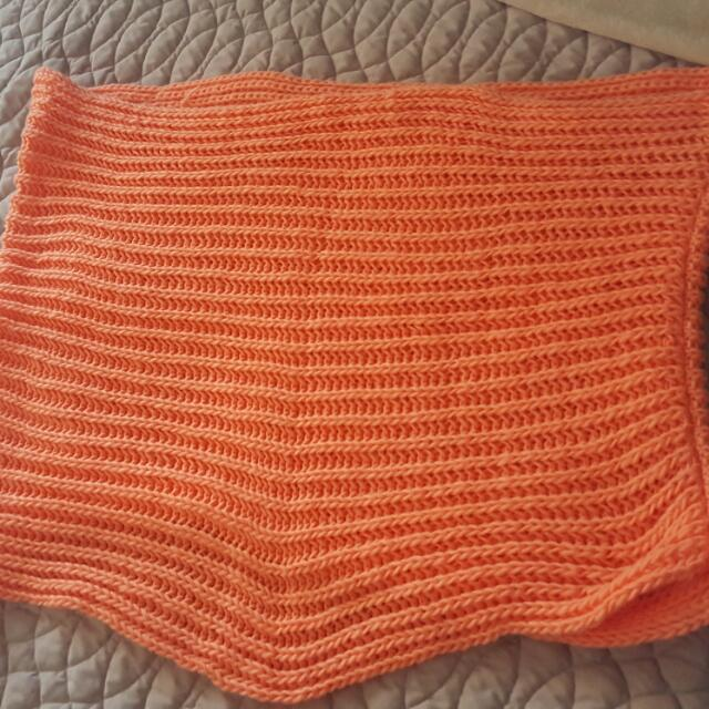 Large Cowl Scarf -Bright Coral