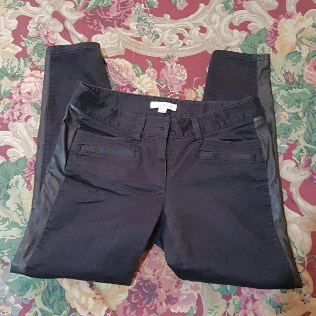 Loft Black Pants - Size 2p Or 26