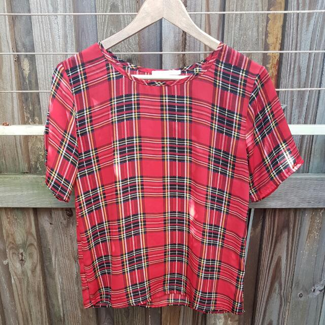 Luck and Trouble Tartan Tee