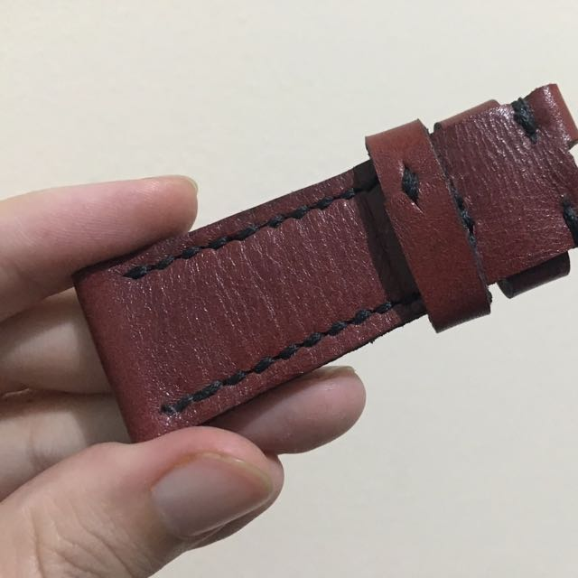 Maroon Leather Strap For Sevenfriday