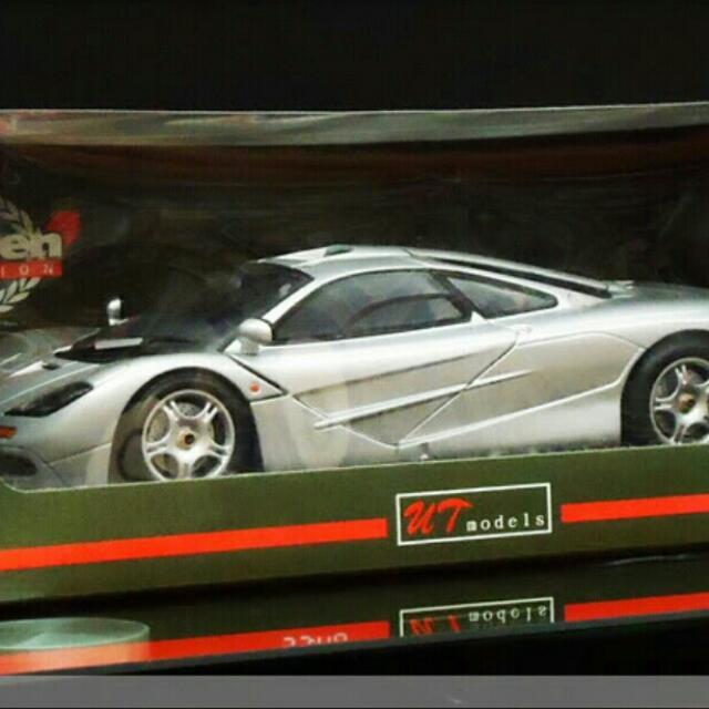 mclaren f1 silver 1:18ut models, toys & games, bricks