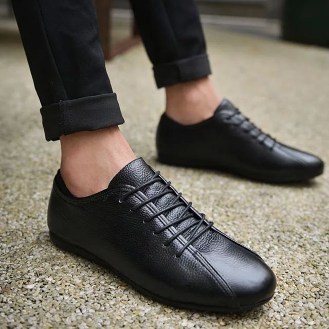 👟MEN👟 Lace Up Leather Formal Semi Casual Sneaker Shoes b0082fb4341f