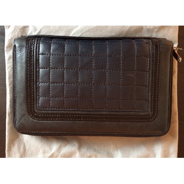 Mimco navy and black clutch wallet