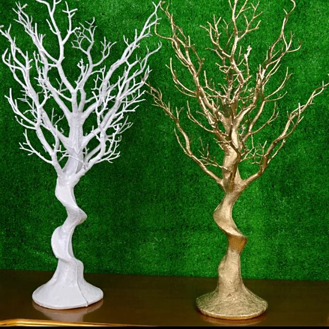 One 75cm X 16cm (base) Tree Decoration In White
