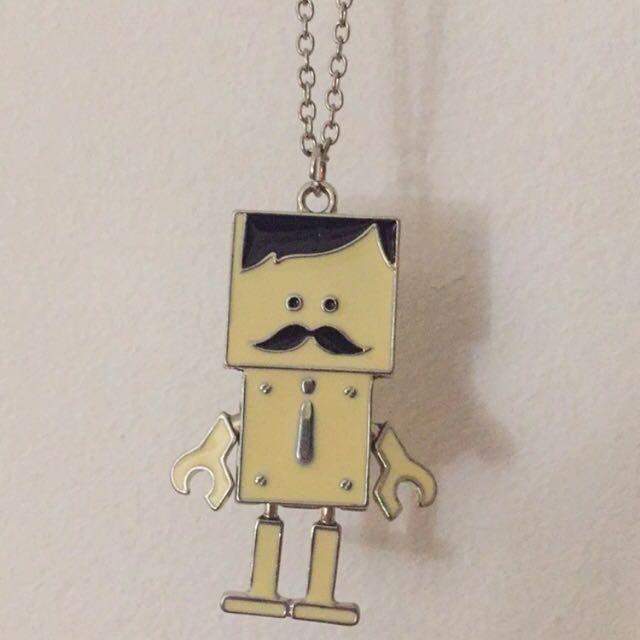Moustache Robot Chain Necklace