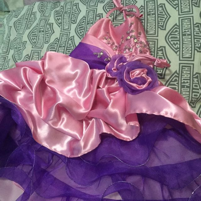 Pink and purple gown