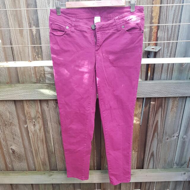 Plum Pink Jeans