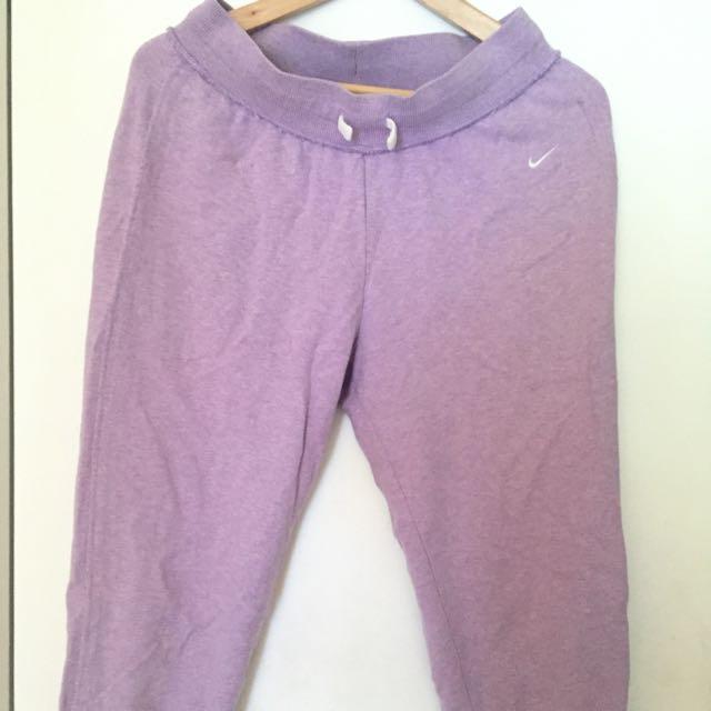 Purple Nike Capris Sweatpants