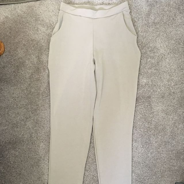 Sand/tan Skinny Leg Trousers