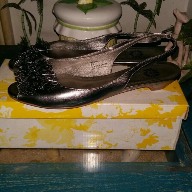 Silver Flatshoes Yellowbox