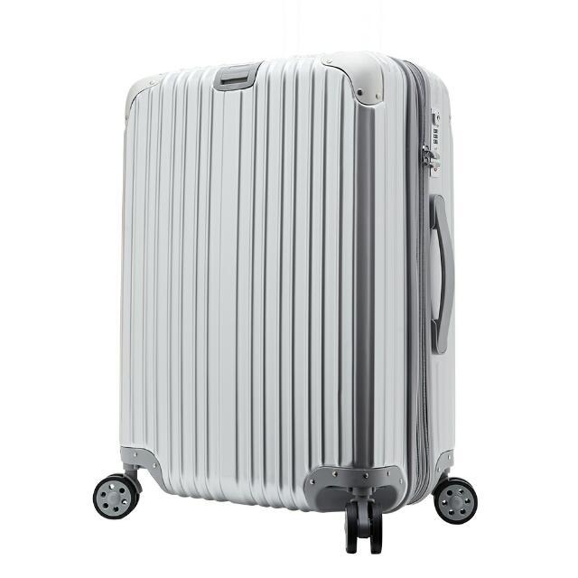Skyraiser行李箱 銀 加大 Tsa 飛機雙輪