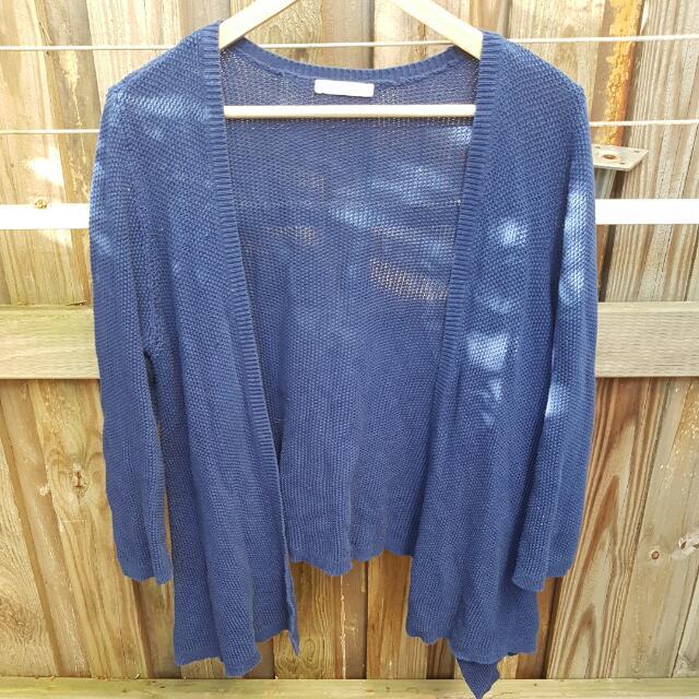 Thin Knit Blue Jumper