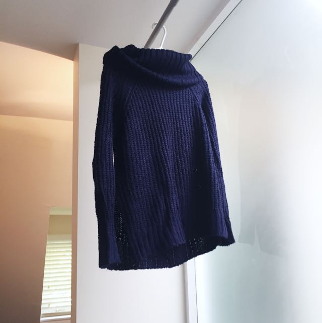 TOBI Navy Blue Knit Sweater