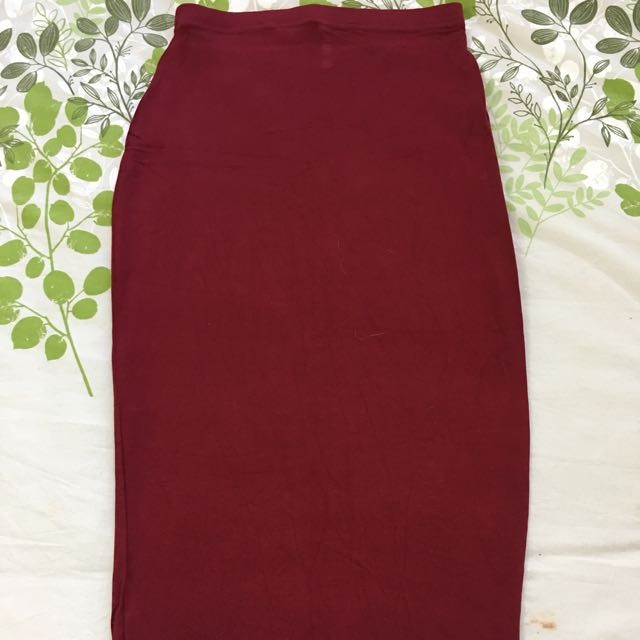 Wine/burgundy/red Midi Skirt.