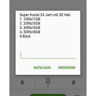 KARTU SAKTI AJAIB Telkomsel internet pulsa murah simpati/as SUPER KUOTA 24 JAM