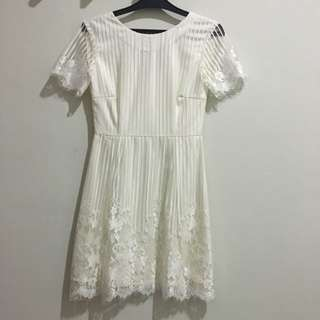 Custom Made Lace White Dress
