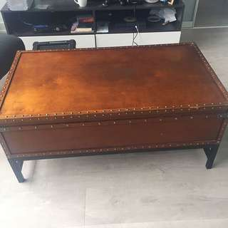 Trunk table With storage